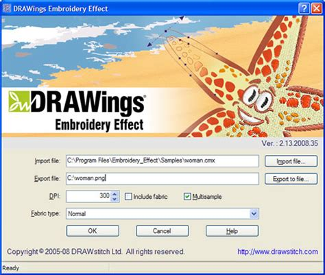 drawings embroidery software   works
