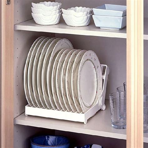 foldable dish plate drying rack organizer drainer plastic storage holder white kitchen organizer