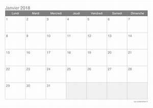Calendrier Par Mois : calendrier 2018 mensuel imprimer icalendrier ~ Dallasstarsshop.com Idées de Décoration