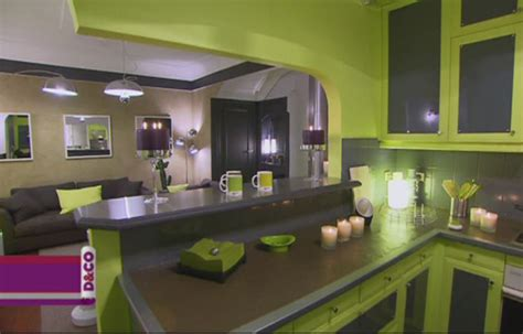 cuisine verte et grise cuisine vert anis et gris