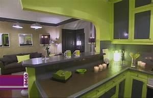 cuisine vert anis et gris With cuisine gris et vert