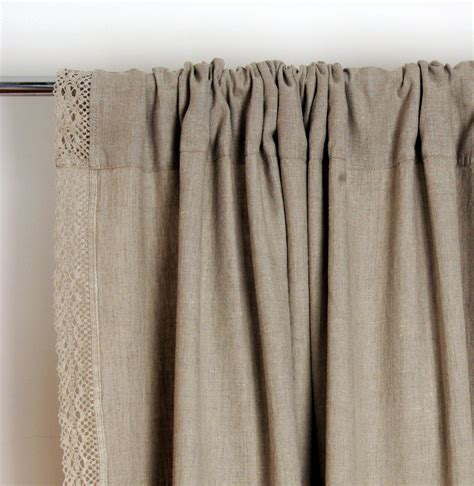 lace linen curtain custom length window curtains
