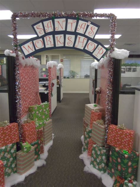 office christmas decorations ideas  pinterest
