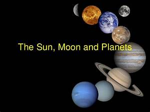 Sun, Moon and Planets Slideshow