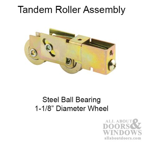 sliding patio door roller assemblies tandem wheels