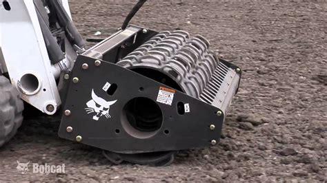 bobcat vibratory roller attachment youtube
