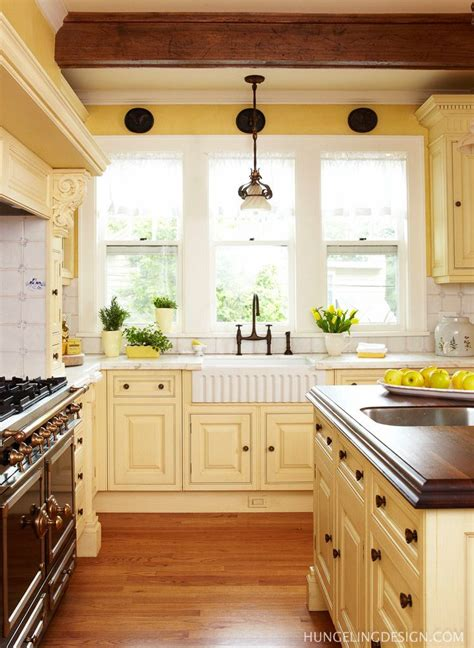Yellow Kitchen Cupboards by Luxury Kitchen Designer Hungeling Design Beautiful