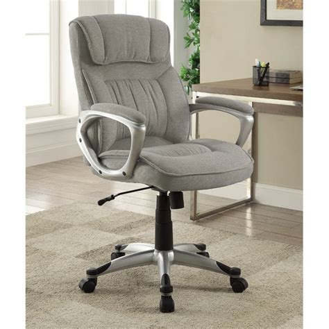 at home executive office chair in glacial gray linen 47910