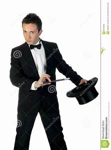 Magician With Wand And Hat Stock Photo - Image: 9572560