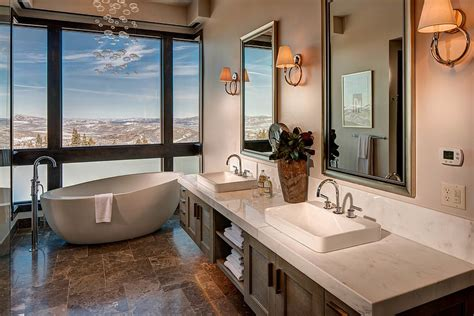 Modern Bathroom In Valley by Framed To Perfection 15 Bathrooms With Majestic Mountain