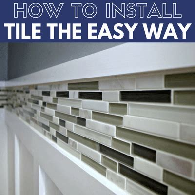 install  tile backsplash easily  home  easy