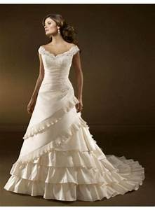 a line off the shoulder lace sweep train satin wedding With wedding dress off the shoulder lace