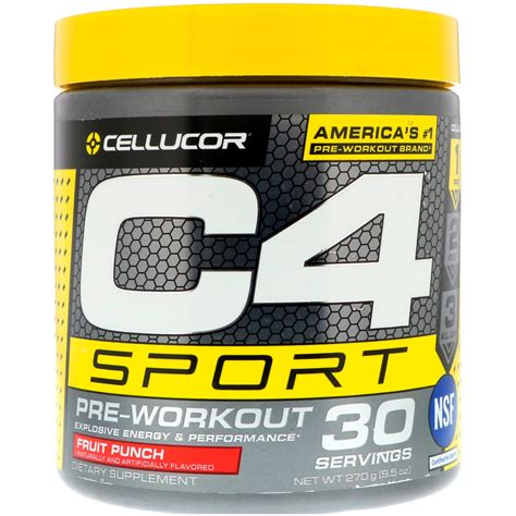 cellucor  sport pre workout fruit punch  oz