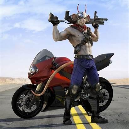 Artstation Biker Mice Mars Vinnie Characters Baldini