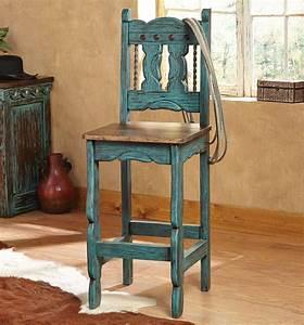 Turquoise Santa Fe Barstools Set Of 2