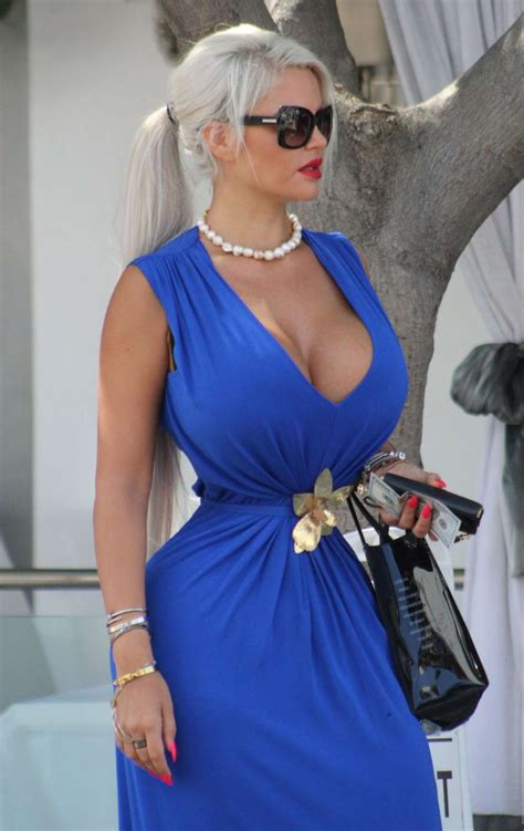at tin dress wollersheim in blue dress out in los angeles