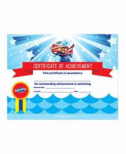 Sample Of Certificate Of Achievement Swimming Certificate Template 8 Free Word Excel Pdf