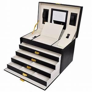 Boite A Bijoux : grande boite bijoux luxe xxl noire bo tes bijoux espace bijoux ~ Teatrodelosmanantiales.com Idées de Décoration
