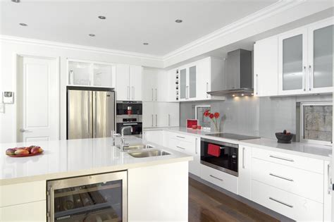 glossy white kitchen cabinets glossy white kitchen design trend digsdigs