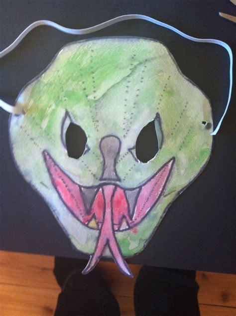 python mask printable template  lunchbox season