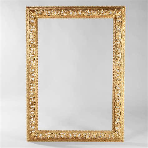 important cadre rectangulaire en bois ancien travail italien 2014091520 expertissim
