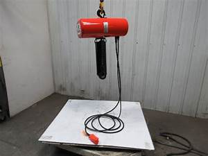 Cm Lodestar Model L 1 Ton 1hp Electric Chain Hoist 230  460v 3ph 19 U0026 39  Lift 16fpm