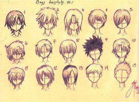 cool anime boy hairstyles hair
