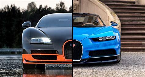 Bugatti Veyron And Chiron by Bugatti Chiron Vs Bugatti Veyron Here S How These Two