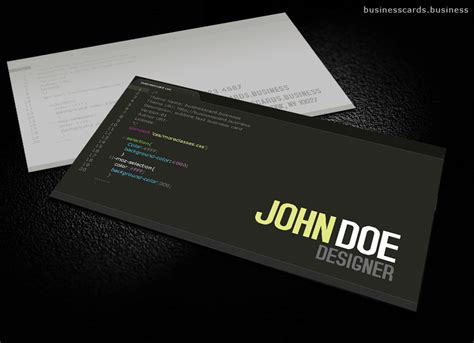 Free Developer Business Card Template For Photoshop