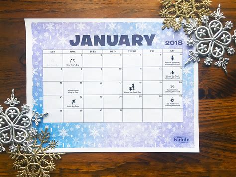 disney january  calendar disney family