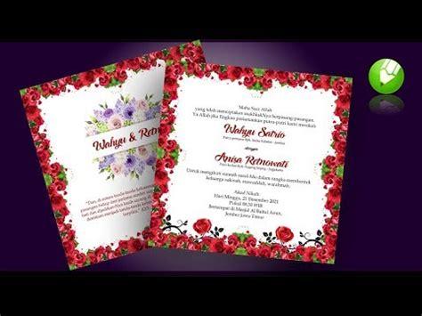 membuat desain undangan pernikahan tutorial