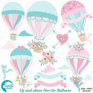 Wedding clipart hot air balloon clipart bridal shower for Wedding shower balloons