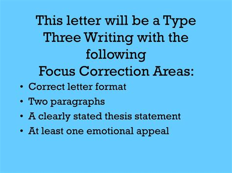 writing  persuasive letter powerpoint