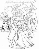 Coloring Pages Disney Princess Printable Jasmine Aladdin Drawing Cinderella Couples Bride Groom Wishes Personalized Pocahontas Cana Getcolorings Cartoon Getdrawings Smartvaforu sketch template