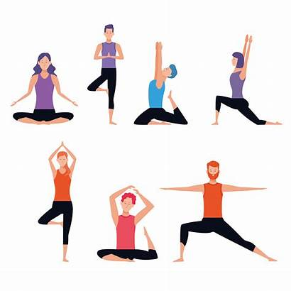 Yoga Clipart Poses Person Doing Pose Persona