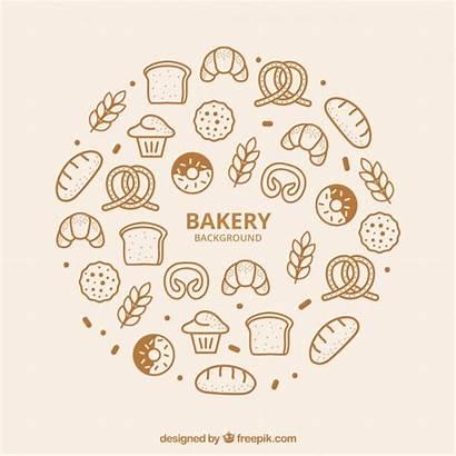 Bakery Vector Background Vectors Freepik Bread Cookies