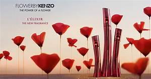 parfum elegant et flacon stylise kenzo flower With affiche chambre bébé avec parfum fleur de kenzo