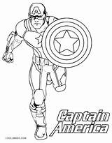Shield Captain America Coloring Printable Pages Getcolorings sketch template