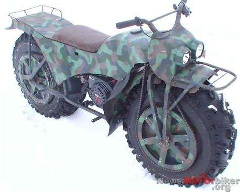The Russian Incredible 2-wheel Drive Motorcycle