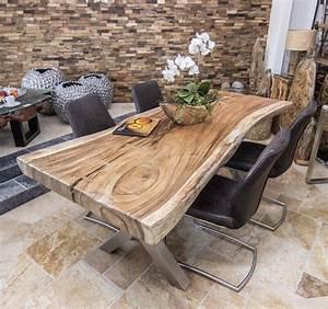 Holztisch Massiv Esszimmer : baumstammtisch massivholz suar wooden tables pinterest tisch holztisch und esszimmer ~ Markanthonyermac.com Haus und Dekorationen