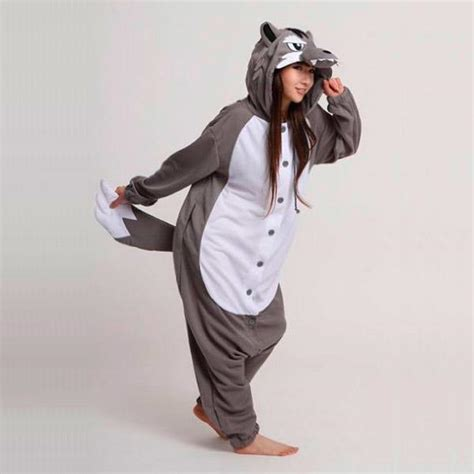 comparateur de cuisine kigurumi loup gris costume adulte s m l xl thermique