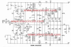 300w Up To 1200w Mosfet Amplifier Circuit
