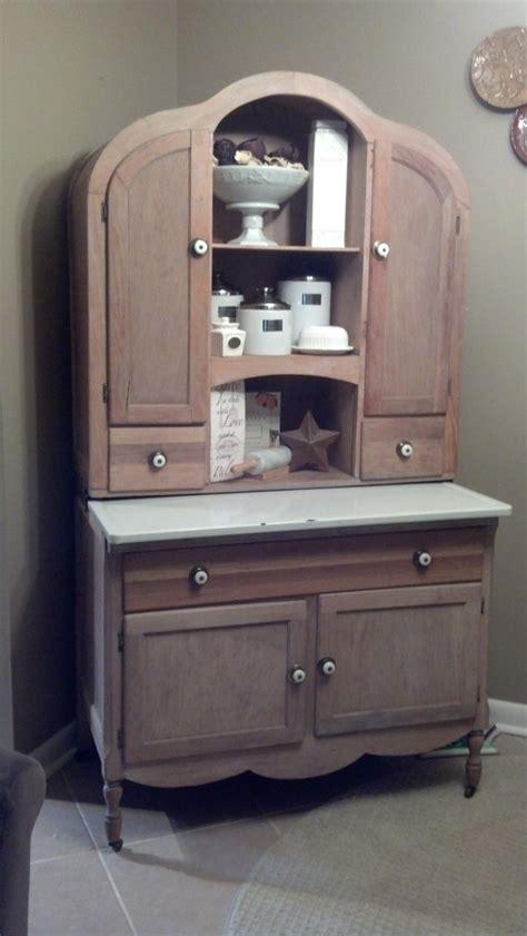 bonnet top hoosier style cabinet  antique furniture
