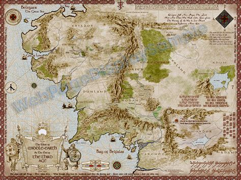 middle earth map   px
