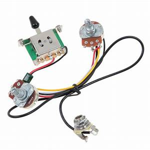 Two Pickup Guitar Wiring Harness 3 Way Blade Switch 500k Great W   Humbuckers 634458590433