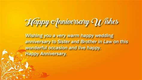 happy anniversary  sister  brother  law wisheslover