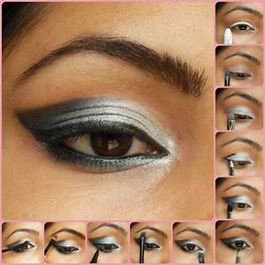 Eye Makeup Tutorial: Silver Smokey Eyes - Beauty, Fashion ...