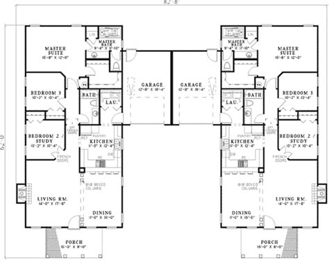 fordyce crest multi family home plan   house plans