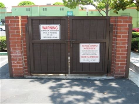 cdms fabricates  installs commercial dumpster gate