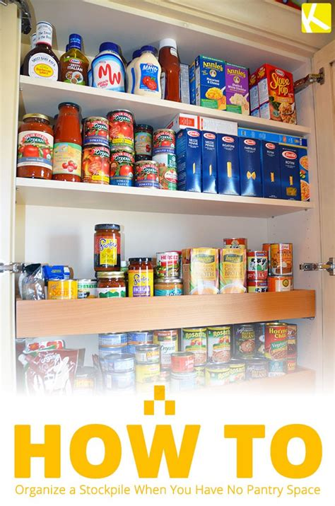 You can measure quantities more efficiently, and there are no more empty boxes sitting on the shelves. The Top 5 Ways to Organize a Stockpile When You Have No Pantry Space - The Krazy Coupon Lady